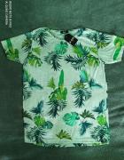 Nowa z metkami koszulka bluzka tshirt jungle styl liście natura wzory L