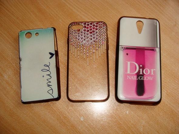 Etui cover obudowa case Sony Iphone HTC smile mietowe krysztalki rozowe svarowski Dior lakier