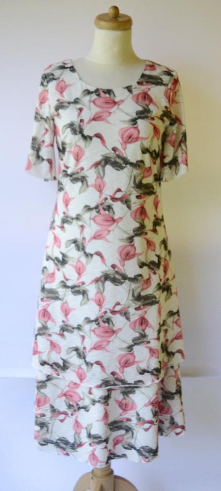 Suknie i sukienki Sukienka Long Kwiaty S 36 Folk Kwiatki Długa Elegancka
