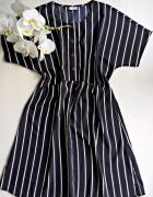 Sukienka w paski basic minimalizm XS S Jacqueline de Yong...