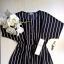 Sukienka w paski basic minimalizm XS S Jacqueline de Yong