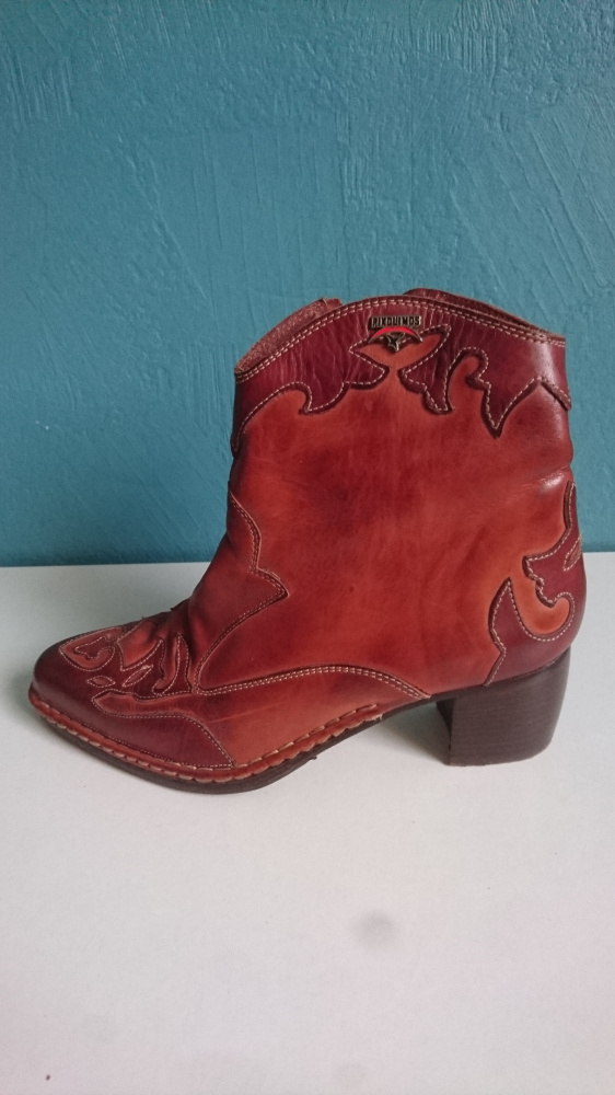 Hiszpańskie botki kowbojki ze skóry w stylu Bohosiewicz 40