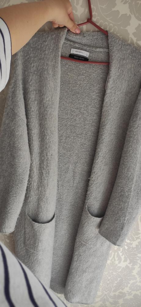 Sweter long wełniany długi
