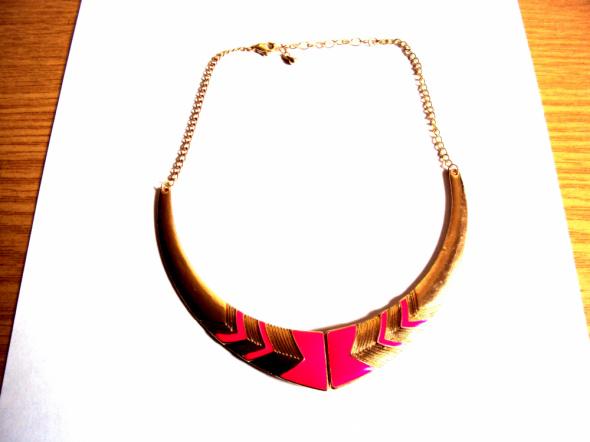 Naszyjnik różowy złoty