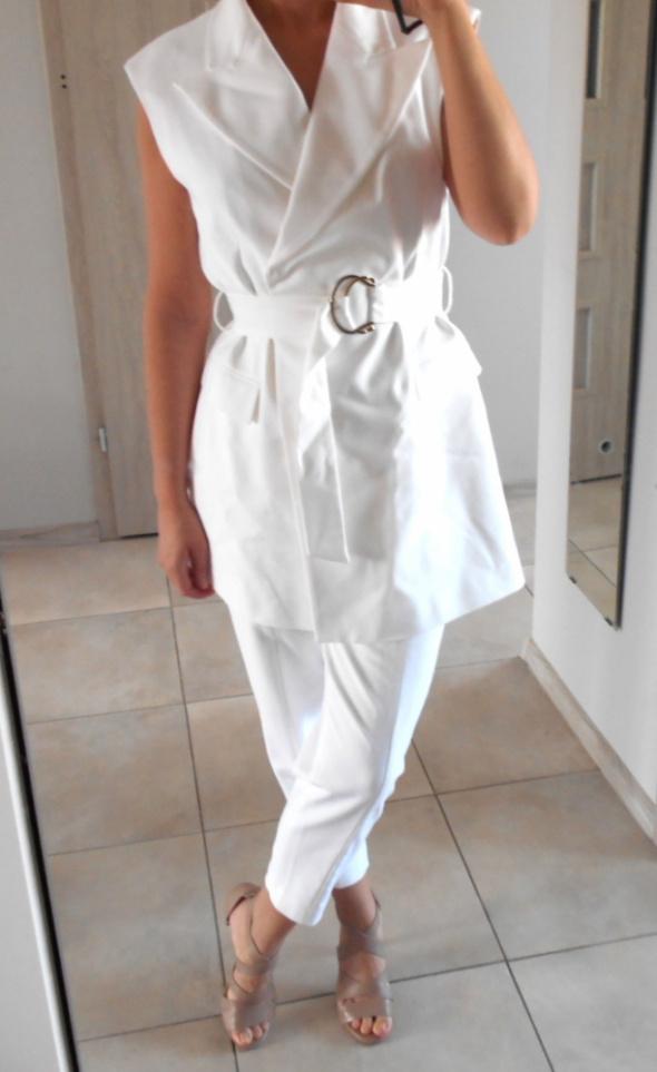 Zara nowy biały komplet garnitur kamizelka cygaretki