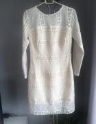 Sukienka kremowa M