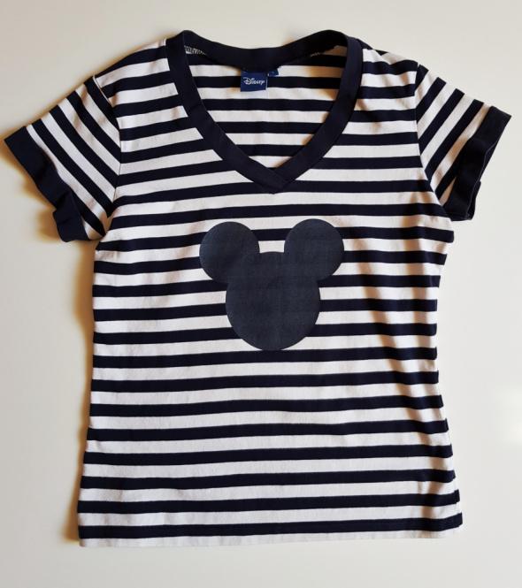 DISNEY Koszulka bluzka w paski z Myszką Miki Lka