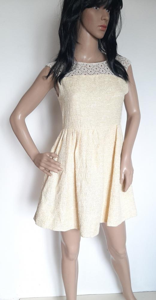 L16 sukienka Zara Woman koronka ćwieki rozm S...