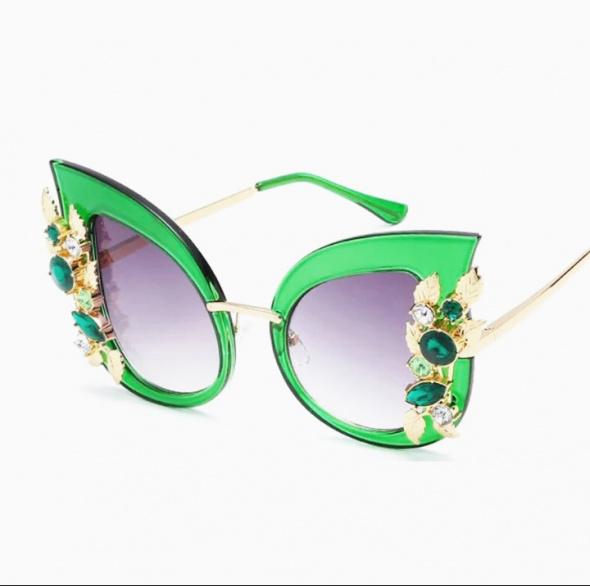 Luksusowe okulary przeciwsłoneczne Cat Eye duże