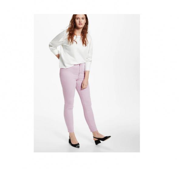Nowe spodnie dżinsy Mango 46 XXXL 6XL Violeta jeansy jegginsy l...
