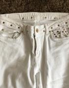 Białe spodnie Zara S...