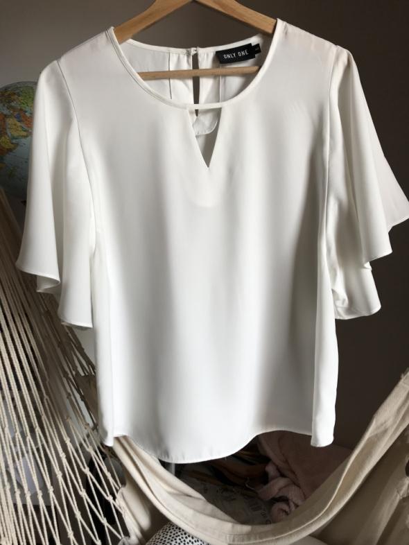 Bluzka motyl szerokie rękawki 40 L biała Only nietoperz ciekawy krój
