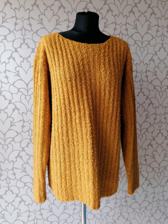 Żółty musztardowy sweter jak oversize retro vintage 38 40