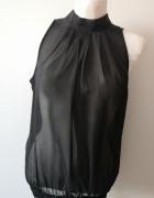 Czarna prześwitująca bluzeczka...