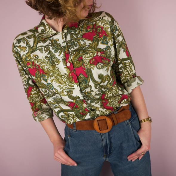Koszula vintage retro łańcuchowy wzór...