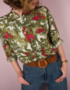 Koszula vintage retro łańcuchowy wzór