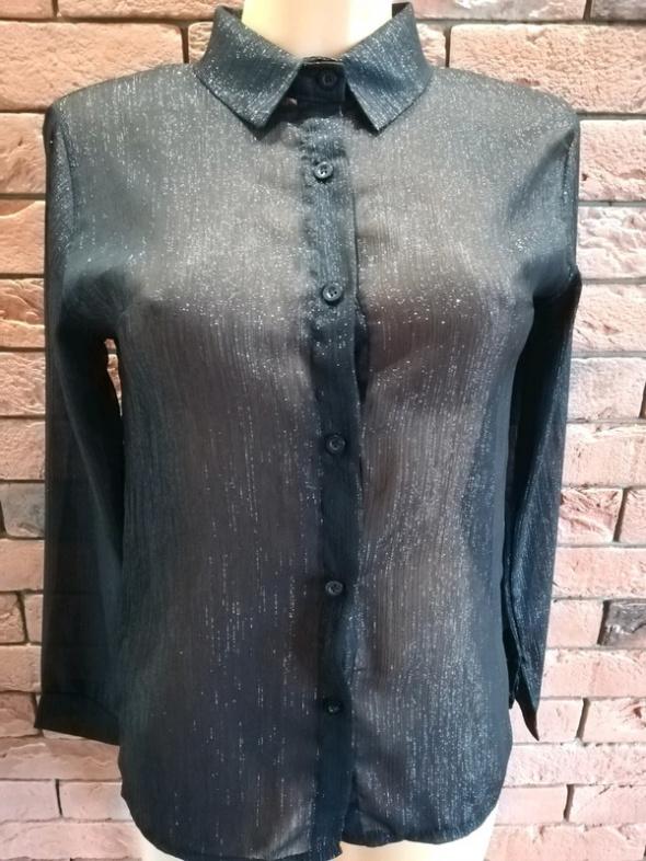 Koszula czarna z błyszczącą nitką
