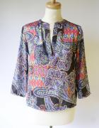 Bluzka Wzory Ralph Lauren XS 34 Boho Elegancka Wizytowa...