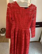 Czerwona koronkowa sukienka Top Secret...