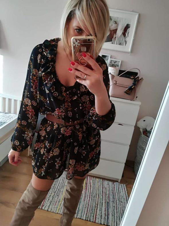 Sukienka kwiaty rozm S M