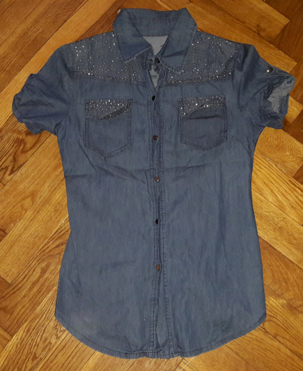 Koszula jeans jeansowa S