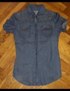 Koszula jeans jeansowa S...