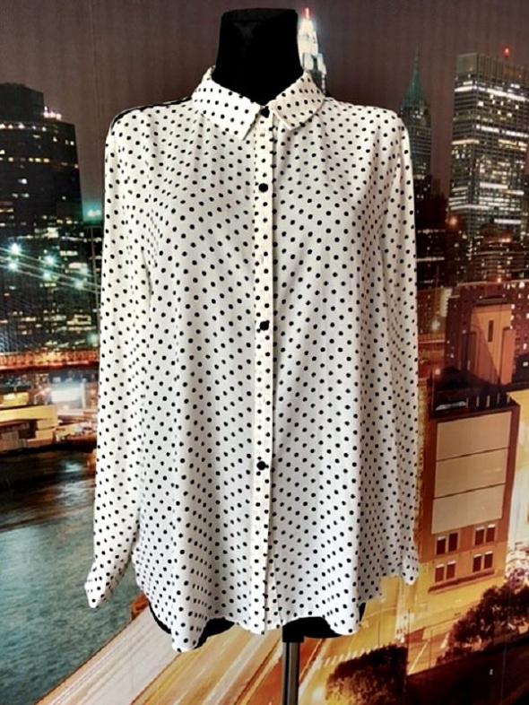 primark koszula jak nowa modny wzór grochy groszki 46