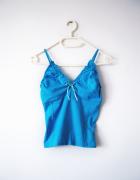 Niebieska bluzka na ramiączkach top vintage...