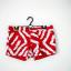 NOWE dwustronne biało czerwone szorty spodenki paski