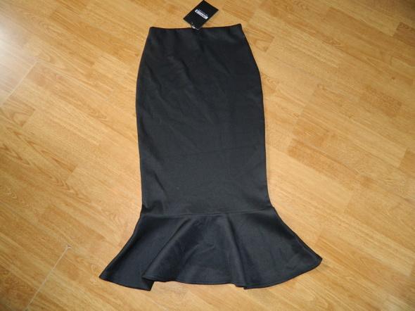 Missguided dopasowana spódnica midi falbanka roz 34
