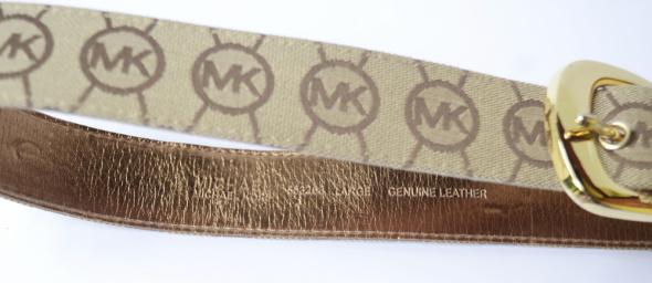 Pasek Logowany Michael Kors L Skórzany MK Brązowy Skóra Naturalna