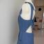 Kombinezon Dżinsowy Krótki Modne Plecy Lyocell by UK 40