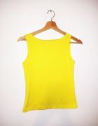 Żółta bluzka bez rękawów crop top basic