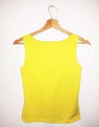 Żółta bluzka bez rękawów crop top basic...
