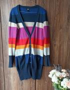Kardigan H&M kolorowe pasy M...