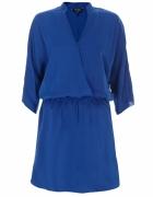 Chabrowa kopertowa sukienka mini 38...