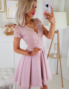 sukienka koronkowa różowa 34 36 38 40 42 44 46 kolory...