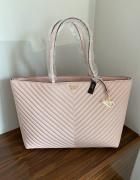 Torba Victoria s Secret różowa na ramię torebka VS pudrowy róż...