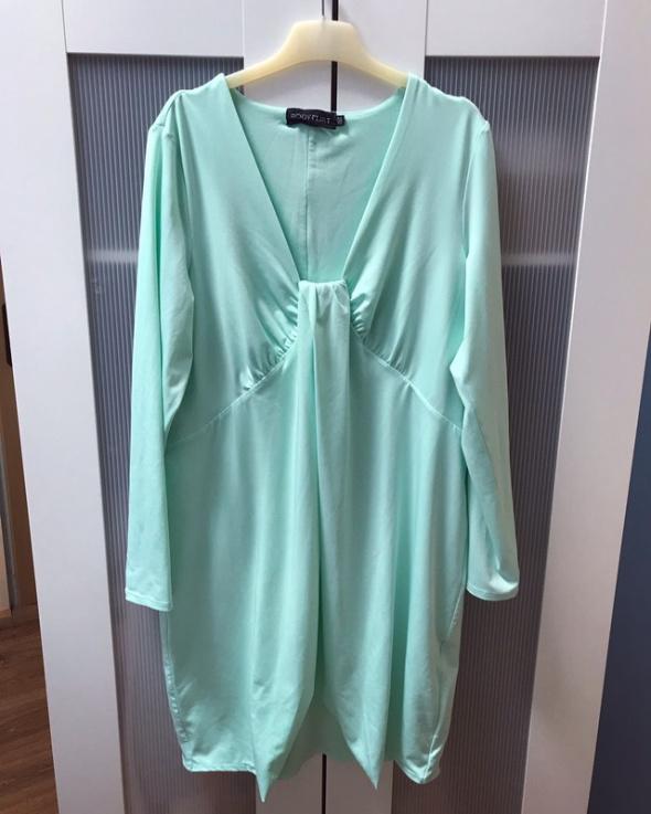 Miętowa sukienka tunika L XL