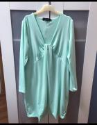 Miętowa sukienka tunika L XL...