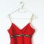 Czerwony kopertowy top ze złotymi dodatkami cekiny tunika...