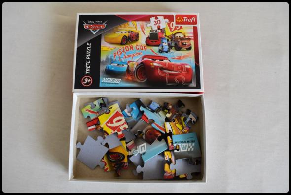 TREFL Puzzle dla dziecka Cars Auta Zygzak 3 lata
