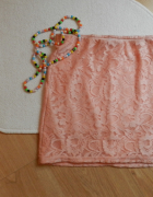 Koronkowa różowa spódnica mini Suiteblanco...