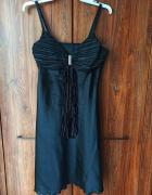 Wieczorowa suknia czarna satynowa rozmiar L...