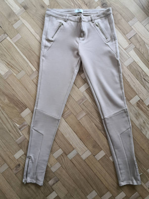 Spodnie Beżowe rurki