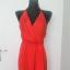 Czerwona sukienka z dekoltem na plecach Asos