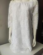 Koronkowa sukienka hiszpanka biala