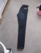 spodnie jeans ciążowe H&M mama skinny high rib 36 granatowe...