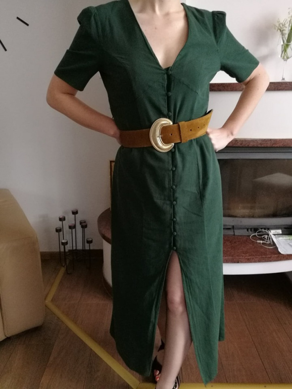 Nowa sukienka Zara cotton linen