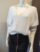 Sweter cieniutki niebieski wiosna XL